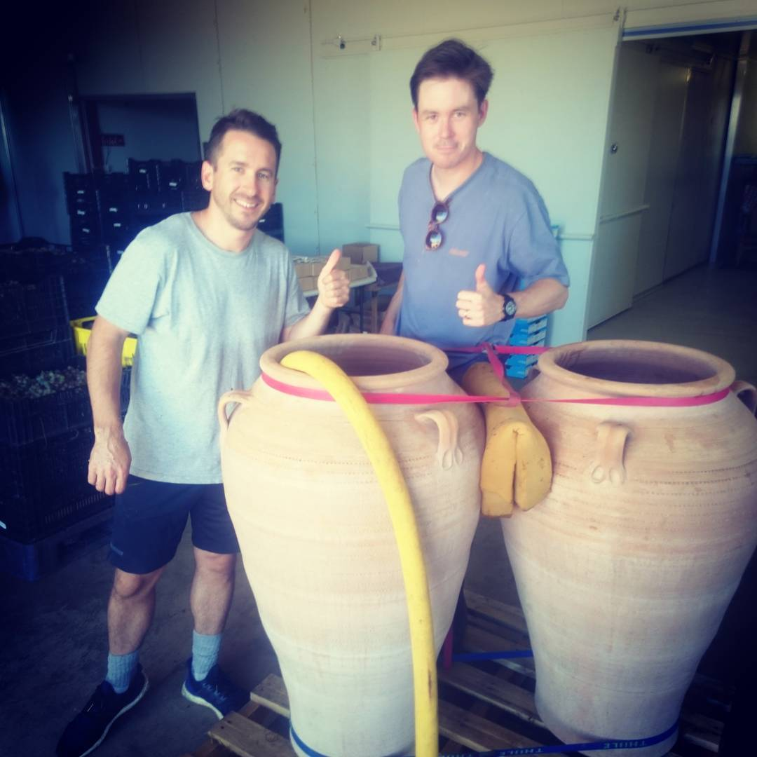 Charlie the DJ and Jonesy with their amphorae delivered justhellip