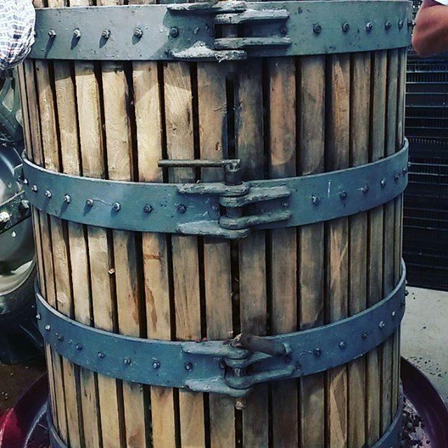 Basket press ready to go Garage wine in the makinghellip